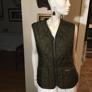 Barbour Women's Olive Green Quilted Vest